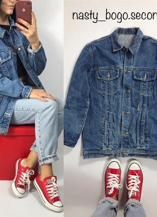 Джинсовка винтаж удлиненная оверсайз scirocco джинсовая куртка джинс пиджак