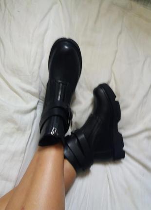 Ботинки эко кожа