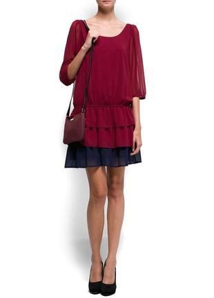 Шифоновое платье с оборками mang