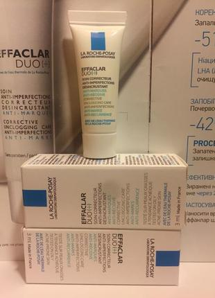 Корректирующее средство для проблемной кожи la roche-posay effaclar duo+ 3 мл