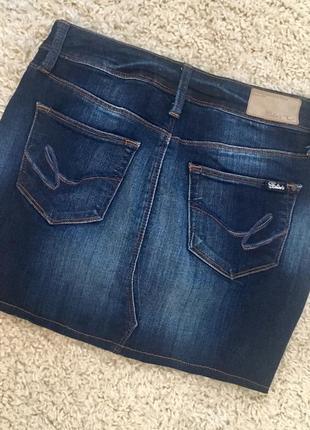 Юбка темно-синий джинс