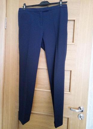 Классические офисные брюки со стрелками от oodji, синие, 44 размер
