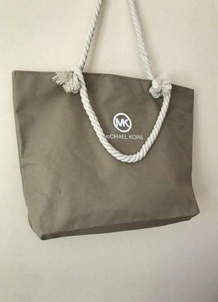 Пляжная сумка с канатными ручками. беж. есть другие цвета