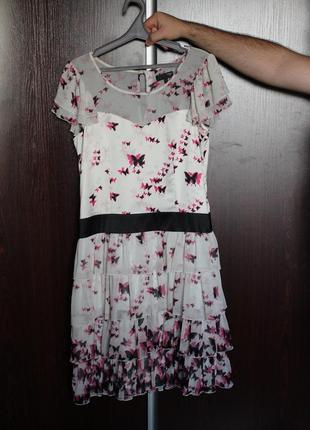 Романтичное платье с бабочками от next