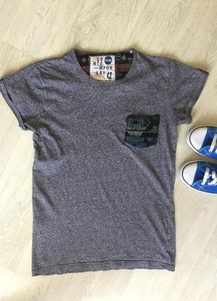 Крутая серая футболка !solid