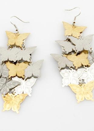 Невероятные серьги порхающие бабочки!