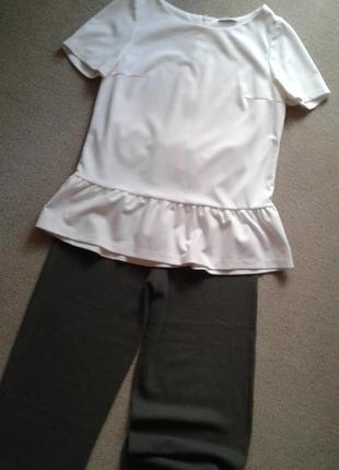 Красивая блуза молочно-белая,идеальная,р 10-12