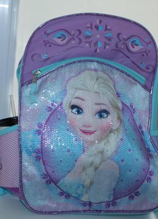 Новый рюкзак анна и эльза,(оригинал) disney, паетки