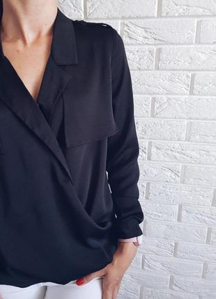 Красивая черная блуза от y.a.s