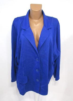 Кофта синяя okay, 5xl (30), cotton-polyester, как новая!