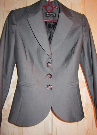 Пиджак класический серый