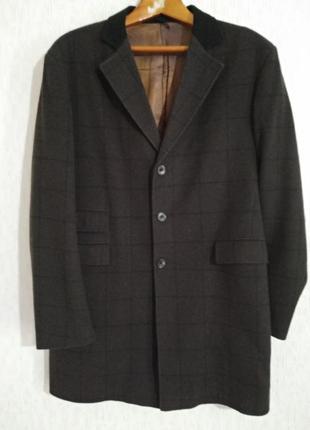 Классическое пальто в английском стиле peter werth c шерстью англия