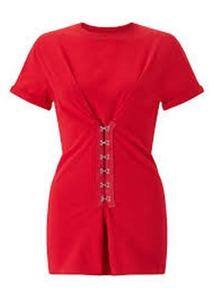 Новая красная футболка с биркой miss selfridge