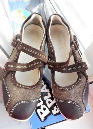 Кожаные туфли балетки timberland мокасины rieker босоножкиecco 36р-37