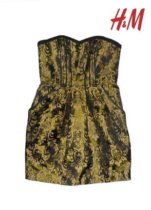 Платье коктельное с золотом h&m