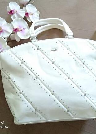 Женская стильная сумка со стразами, на коротких ручках