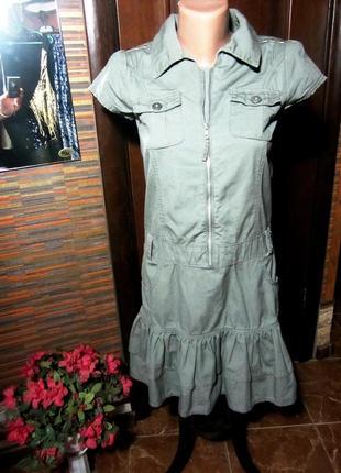 Платье хаки милитари от американской компании на 12-13лет