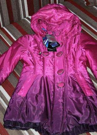 Осеннее пальто куртка biko kana 122-128