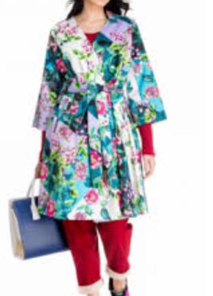 Красивый яркий осенне-весенний плащ ( платье) от imperial