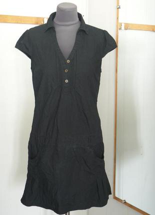 Платье летнее черное.