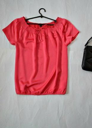 Коралловая блуза свободного кроя ann taylor