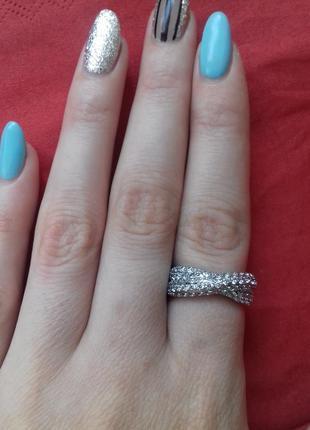 Стильное кольцо медзолото размер 17