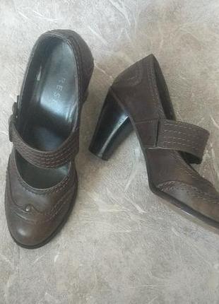 Кожаные туфли, varese 24.5-25 см