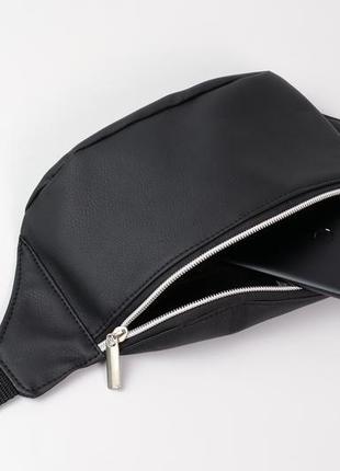 Чёрная бананка сумка на пояс