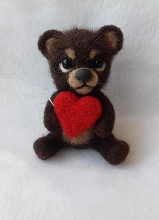Брелок медвежонок с сердечком