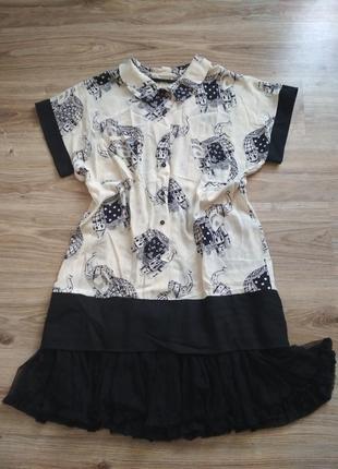 Шикарное шёлковое платье с принтом