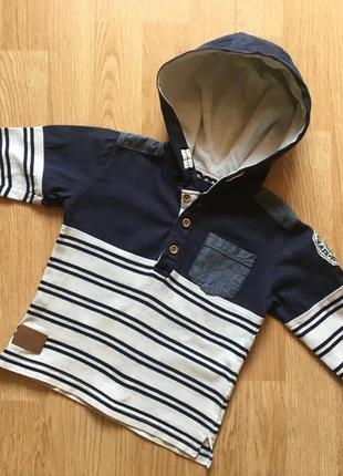 Кофта с капюшоном, реглан для мальчика rebel, размер 2-3 года, 92-98