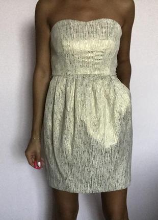 Золотое платье колокольчик1 фото