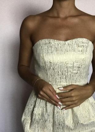 Золотое платье колокольчик4 фото
