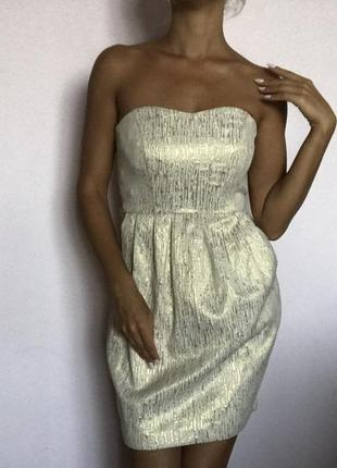 Золотое платье колокольчик5 фото
