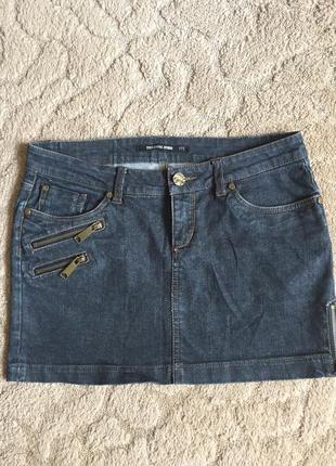 Классная джинсовая юбка раз m