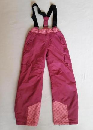 Зимние термо штаны, лыжный полукомбинезон фирмы vertbaudet ( франция) р. 138 на 10 лет