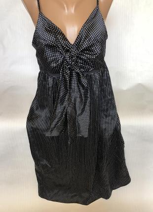 Шикарное платье шёлк  в горох ted baker