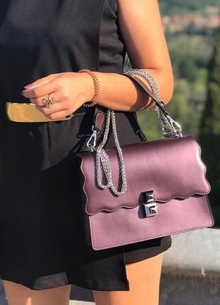 Сумка кожаная италия натуральная кожа бордо бордовая фіолетова шкіряна кроссбоди клатч