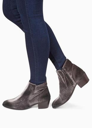 Стильные вельветовые  бархатные ботинки