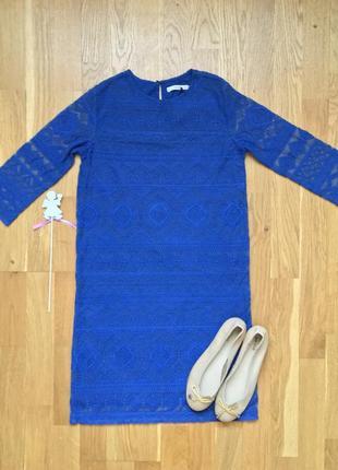 Нежное ажурное платье mango