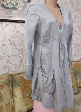 Лёгкое хлопковое 👗 платье для беременных