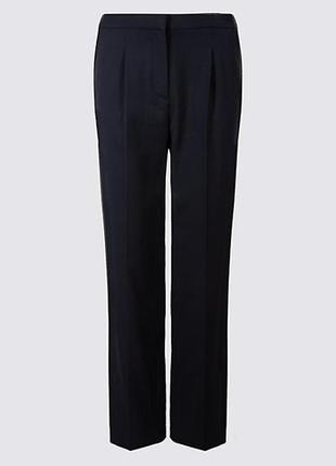 Стильные брюки зауженные, классические  брюки на модной высокой посадке 10 размер