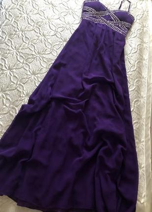 Шикарное пышное,длинное платье для праздника/вечернее/выпускное размер м(10)