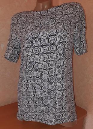 Блуза/футболка с принтом из вискозы