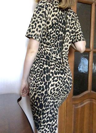 Мега красивое леопардовое платье warehouse