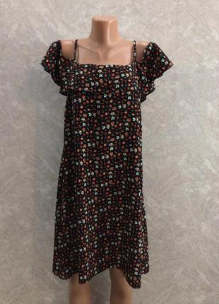 Сарафан платье в цветы с воланом f&f