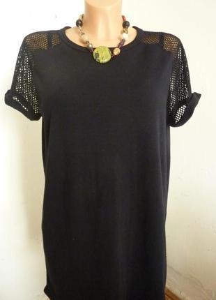 Платье туника сетка трикотаж