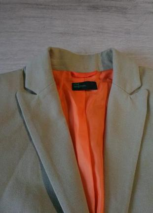 Плотный котоновый пиджак benetton
