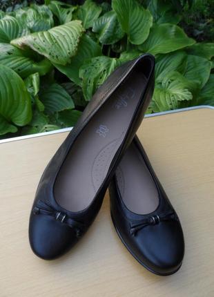Утонченные кожаные туфли footglove / 41-42размер