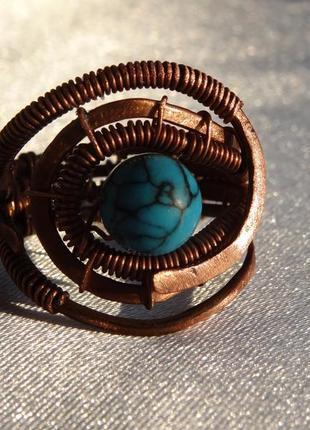 Кольцо ручной работы wire wrap